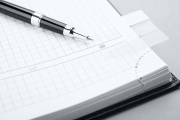 Clean sheet of notebook
