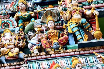 Detail of Sri Mariamman temple
