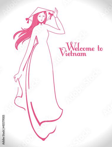 Ao dai' of vietnamese dress