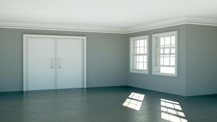 Wohndesign - Raum grau