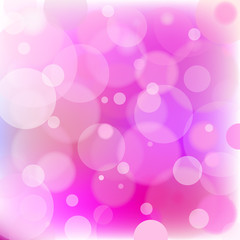Pink circles - abstract light background.