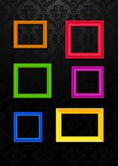 Colorful frames - Vector illustration