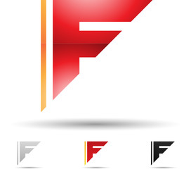 Vector illustration of abstract icons of letter F - Set 2