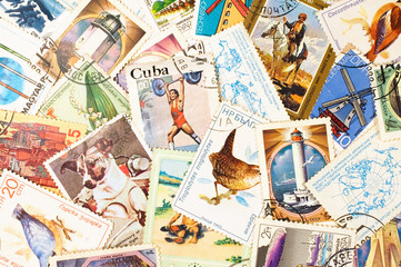 collection of old stamps