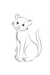 12 Katze sitzend Outlines Malbild