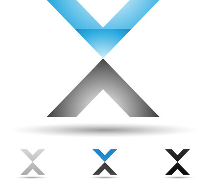 Vector illustration of abstract icons of letter X - Set 6