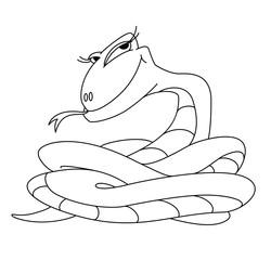 girl snake outlined
