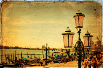Venice - old card - old paper