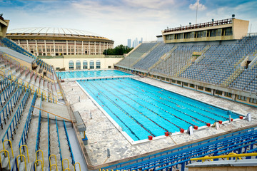 Sports swimming pool in Moscow