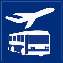 Papier Peint - Schild - Flughafentransfer