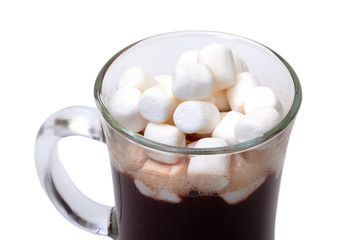 Foto op Canvas Chocolade Hot Chocolate with Marshmallows