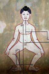 Point massage of man