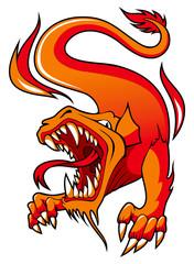 Fire Dragon, vector