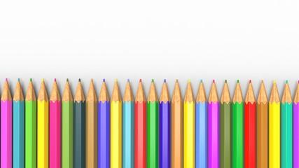 Lápices de Colores Alineados