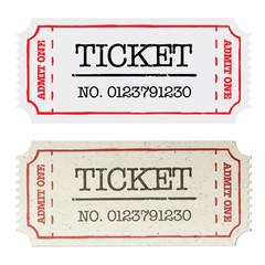 Poster Vintage Poster Vintage paper ticket, two versions. Vector illustration, EPS10.