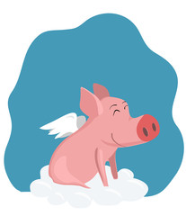 a pig with wings
