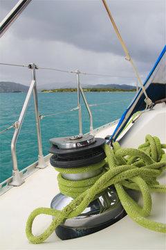 winch su barca a vela
