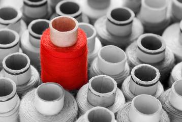 Deurstickers Rood, zwart, wit Roter Blickfang, vielseitig einsetzbares Konzept