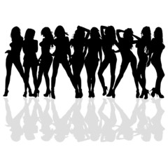 sexy and beauty girl vector silhouette