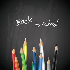 School blackboard with pencils - vector background