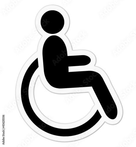 Aufkleber Rollstuhlfahrer Stockfotos Und Lizenzfreie