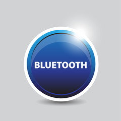 Bluetooth button blue