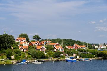 Red cottages in Brändaholm , Sweden