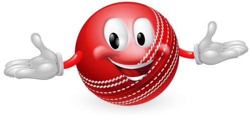 Cricket Ball Mascot