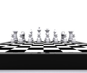White Checkers - 3D