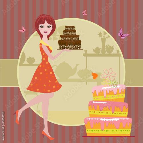 Фотошоп девушка в торте