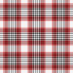 Seamless Red, White, & Black Plaid
