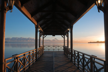 Pier at Llanquihue lake, Frutillar (Chile)