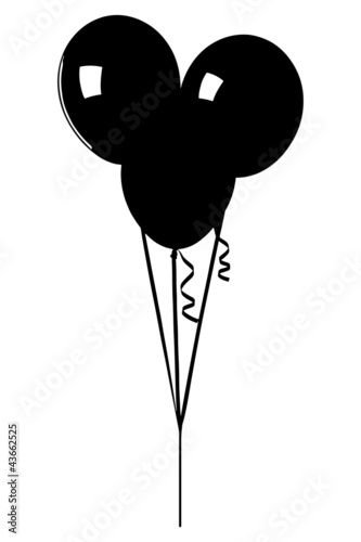 Quot A Silhouette Of A Bunch Of Balloons Quot Stock Image And