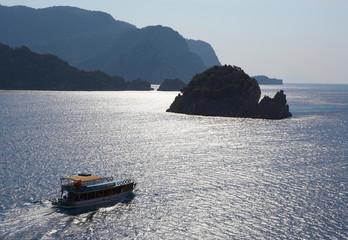Blue islands in Aegean sea. Turkey. Marmaris.