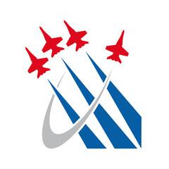 Logo Airshow, airplane # Vector