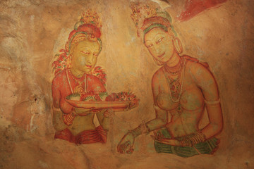 Wall painting, Sigiriya, Sri Lanka