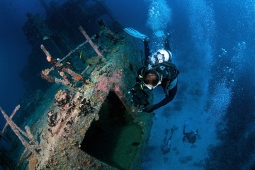 Photo sur Aluminium Plongée Marcha Fushi wreck survey