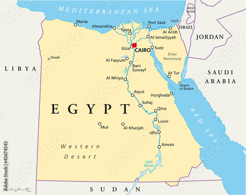 Egypt political map with capital cairo nile sinai peninsula and egypt political map with capital cairo nile sinai peninsula and suez canal arab gumiabroncs Image collections