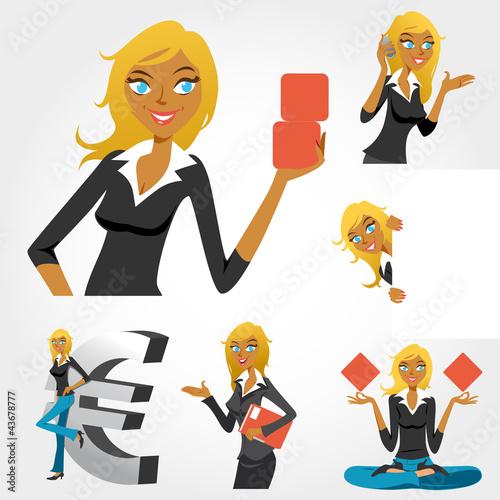 """foto de """"femme d'affaires logo illustration set"""" fichier"""