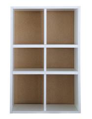 white board shelf house hold isolated white