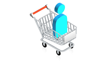 Shopping cart with User Icon