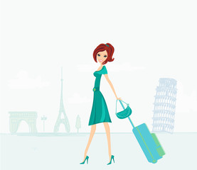 beautiful women Shopping in France and Italy