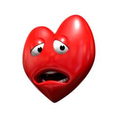 Coeur triste mascotte