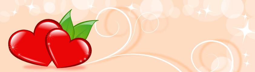 herzbanner rosa