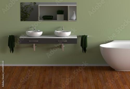 Grünes Badezimmer\