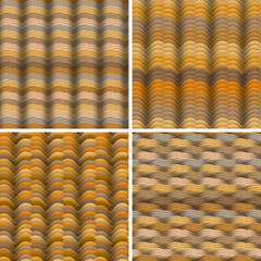 Abstract warm colored waves  seamless pattern