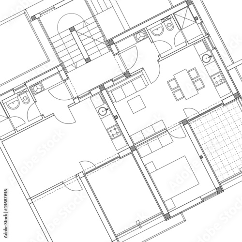 Dessin d 39 architecture photo libre de droits sur la - Dessin architecture en ligne ...
