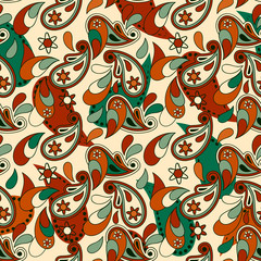 vector seamless pailey background