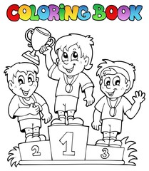 Coloring book winners podium