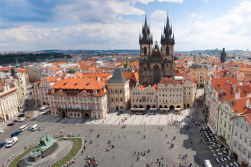 Wall Murals Prague Prague city. Panorama